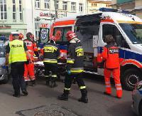 SANOK: Potrącenie pieszej w centrum miasta. Kobieta ze złamaną nogą trafiła do szpitala (ZDJĘCIA)