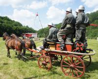 Regionalny pokaz i zawody sikawek konnych w Pielni