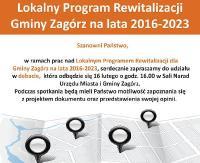 ZAGÓRZ: Debata w sprawie lokalnego programu rewitalizacji w gminie