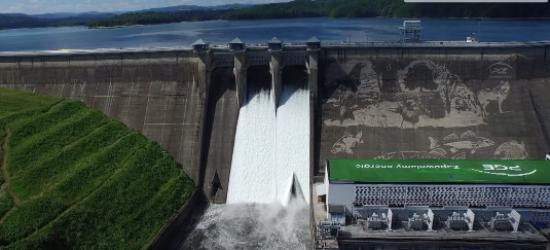 BIESZCZADY24.PL: Eksplozja wody w Solinie. Zobacz wyjątkowe zdjęcia z lotu ptaka (FILM)