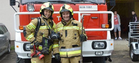 Strażacy z Niebieszczan mieli wyjątkowych gości! (FOTO)