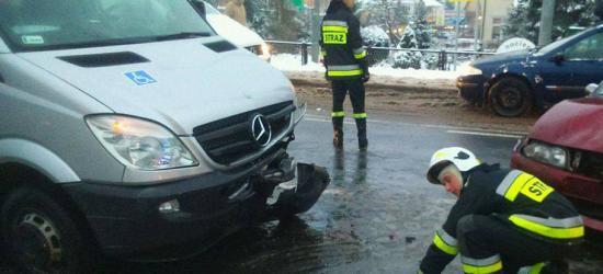 19 – latek ranny po zderzeniu osobówki z motocyklem
