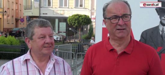 """SLD wystawi """"znakomitego"""" kandydata na burmistrza Sanoka. Włodzimierz Czarzasty na Rynku (FILM)"""