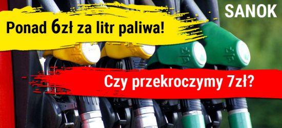 SANOK. Ponad 6 zł za litr paliwa! Czy wkrótce przekroczymy 7 zł?