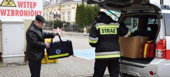 Strażacy przekazali 8 respiratorów dla łańcuckiego szpitala!
