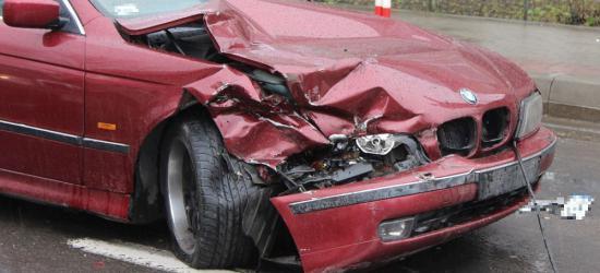 Wypadek na ul. Lipińskiego w Sanoku (ZDJĘCIA)