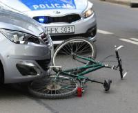 Potrącenie rowerzystki na ulicy Lwowskiej w Sanoku. Utrudnienia w ruchu (ZDJĘCIA)