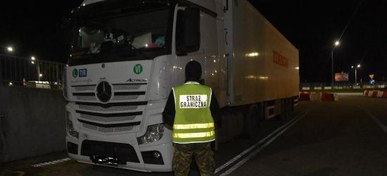 Podejrzana ciężarówka zatrzymana na granicy