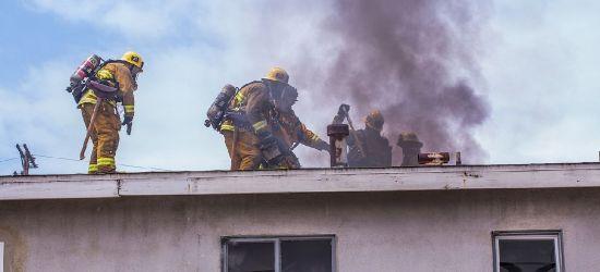 Pożar w zakładzie drzewnym w Bukowsku!