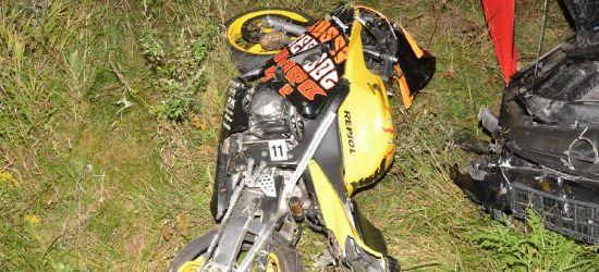 Najechał na tył motocykla. Kierowca jednośladu zmarł!