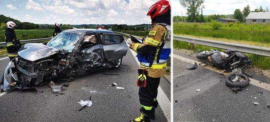 Tragiczny wypadek z udziałem motocyklisty (ZDJĘCIA)