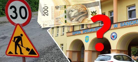 POWIAT SANOCKI: Wstrzymane inwestycje drogowe? Trzeba ratować szpital