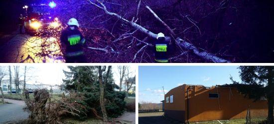 AKTUALIZACJA: Pracowity weekend strażaków. Blisko 30 interwencji po wichurach (ZDJĘCIA)
