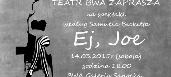 """,,Ej Joe!"""" BWA Galeria Sanocka zaprasza na spektakl"""