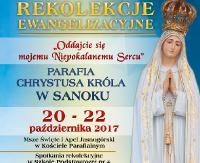 Parafia Chrystusa Króla w Sanoku zaprasza na Rekolekcje Ewangelizacyjne