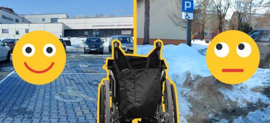 """WRACAMY DO SPRAWY: Miejsca dla niepełnosprawnych """"składzikami"""" śniegu? (ZDJĘCIA)"""
