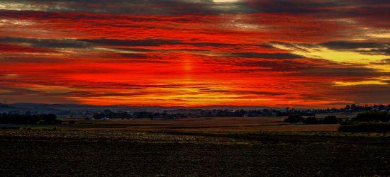 Wczorajszy piękny zachód słońca. Zobaczcie!