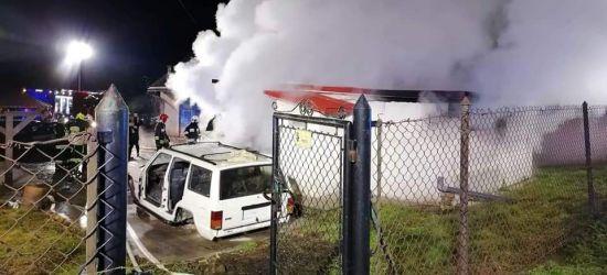 PODKARPACIE. Pożar samochodu. W środku martwy 29-latek (ZDJĘCIA)