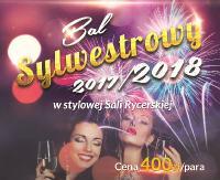 Bal Sylwestrowy na Zamku w Lesku. Muzyka dla trzech pokoleń i szampańska zabawa