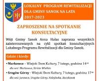Lokalny Program Rewitalizacji dla gminy Sanok. Cykl spotkań konsultacyjnych
