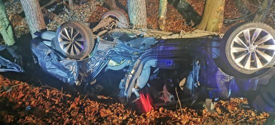 PODKARPACIE. Samochód uderzył w drzewo. Nie żyje młody kierowca (ZDJĘCIA)