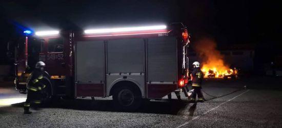 ZAGÓRZ: Pożar odpadów poprodukcyjnych na terenie fabryki (FOTO)