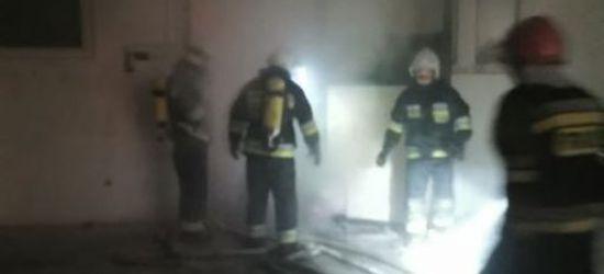 Pożar kotłowni zakładu meblarskiego. Strażacy w akcji (FOTO)