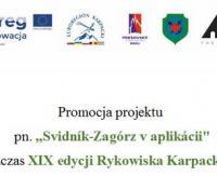 """Promocja projektu  pn. """"Svidník-Zagórz v aplikácii"""" podczas XIX edycji Rykowiska Karpackiego"""