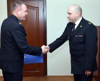 Grzegorz Oleniacz oficjalnie zastępcą komendanta powiatowego PSP w Sanoku (ZDJĘCIA)