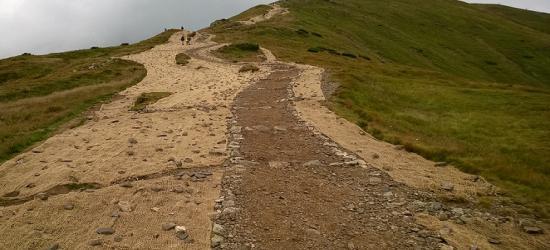 """Kontrowersje wokół ,,schodów"""" na Tarnicę. W Tatrach walczą z erozją w naturalny sposób (ZDJĘCIA)"""