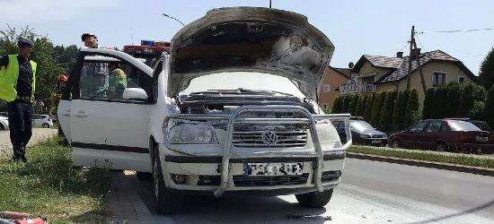 SANOK. Pożar samochodu na ul. Jana Pawła II (ZDJĘCIA)