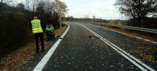 WUJSKIE: Groźny wypadek na serpentynach. Motocyklista w ciężkim stanie (FOTO)