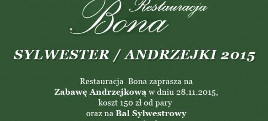 Andrzejki w Restauracji BONA