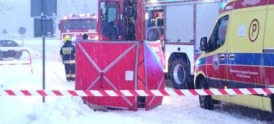 PRUSIEK: Śmiertelne potrącenie pieszego! Droga zablokowana (VIDEO, ZDJĘCIA)