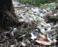 Sterty śmieci na brzegu jeziora. Sprzątali ratownicy bieszczadzkiego WOPR (ZDJĘCIA)