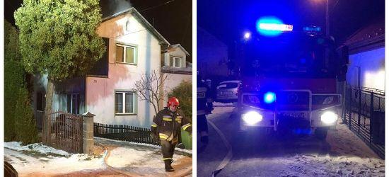 SANOK: Strażacy postawieni na nogi. Pożar poddasza