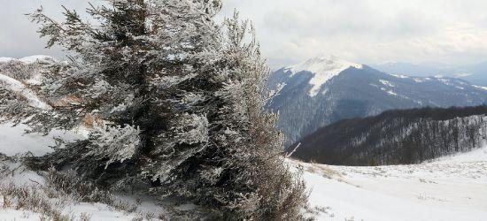 BIESZCZADY: Uwaga na wiatr w górach. Silne podmuchy na połoninach (ZDJĘCIA)