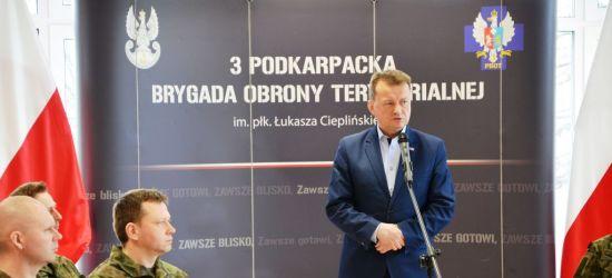 Mariusz Błaszczak spotkał się z sanockimi żołnierzami oraz uczniami klas mundurowych (VIDEO, FOTORELACJA)