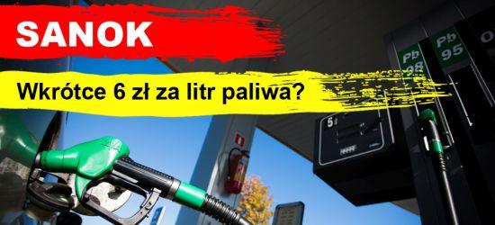 Ceny paliw w Sanoku. Zbliżamy się do 6 zł za litr… (VIDEO, ZDJĘCIA)