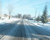 INTERWENCJA: Zaśnieżona, oblodzona, jednym słowem nieprzejezdna. Zobacz warunki na drodze w Bukowsku (ZDJĘCIA)