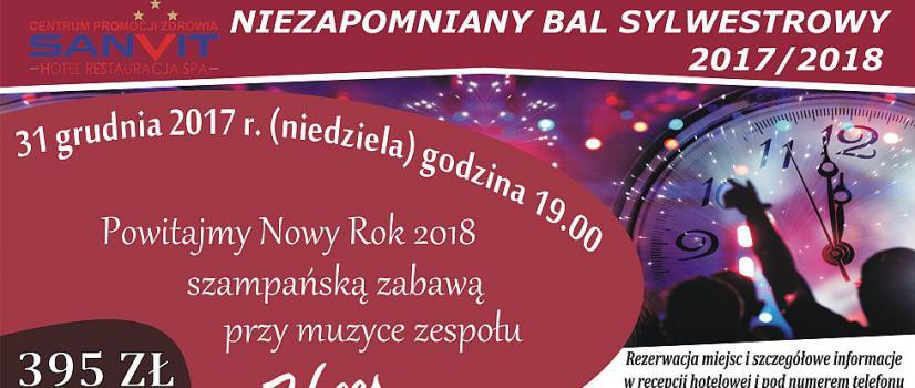 SANVIT ZAPRASZA: Niezapomniany Bal Sylwestrowy