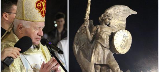 Pomnik św. Michała Archanioła poświęcony. Homilia arcybiskupa Adama Szala (FILM, ZDJĘCIA)
