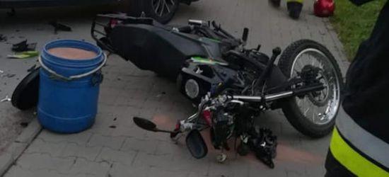 SANOK: Niebezpiecznie na Rymanowskiej. Motocykl uderzył w 13-latkę