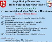 GMINA BUKOWSKO: Uroczystości 650-lecia Nowotańca