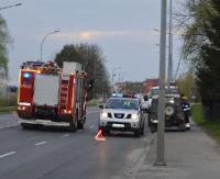 SANOK: Dachowanie i ścięta lampa na obwodnicy. Kierowcy w szpitalu (ZDJĘCIA)