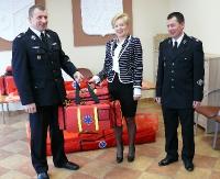 Torby medyczne trafiły do ochotniczych straży pożarnych w Strachocinie i Niebieszczanach (ZDJĘCIA)