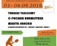 Turniej tenisowy o Puchar Burmistrza Miasta Sanoka