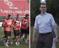 ARŁAMÓW: Otwarty trening kadry. Morawiecki i Boniek odwiedzili piłkarzy (FILM, SONDA)
