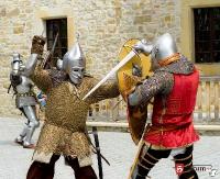 DZISIAJ W SANOKU: 1050 rocznicy Chrztu Polski. Inscenizacja chrztu Mieszka I na dziedzińcu sanockiego zamku już w sobotę