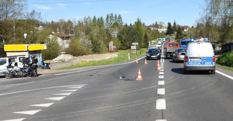 ZAHUTYŃ: Rannemu motorowerzyście pomocy udzielili świadkowie (VIDEO, FOTO)